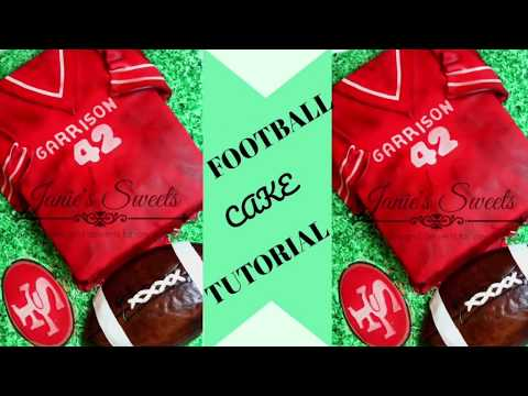 FOOTBALL CAKE TUTORIAL || Janie's Sweets