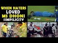 7 Times MS Dhoni Proved Why Even Haters Fall In Love With His Simplicity Respect
