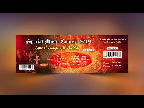 Music Event Ticket Design - Photoshop Tutorial