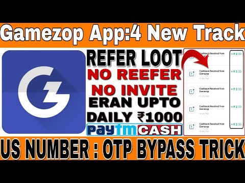 Gamezop App || Top4 UNLIMITED TRICK + US NUMBER TRICK || OTP BYPASS