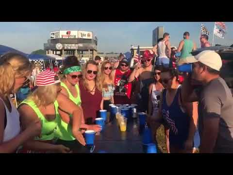 Drinking games and parties go hand in hand with some Indy 500 celebrations
