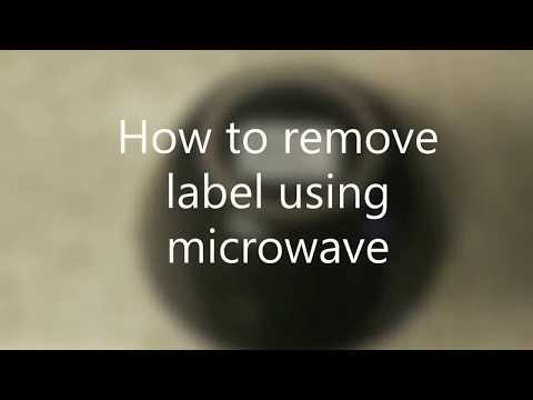 Easy way to remove Label/Sticker/Price Tag from Glass(microwavable)&Ceramic// Microwave Hacks
