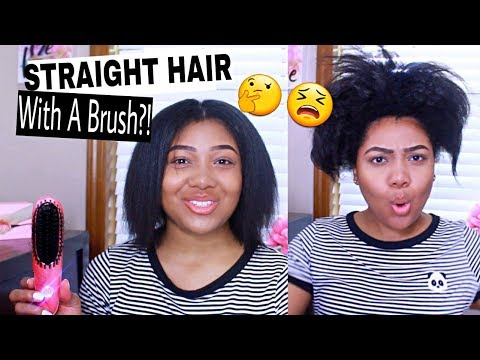 Straight Hair With A Brush? What?! Does this Even Work?! 1 YEAR of NEW GROWTH