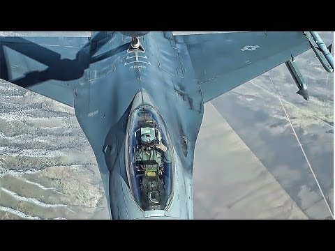 Mid Air Refueling • F16 Pilots Are Cool