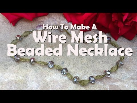 Beaded Wire Mesh Ribbon Necklace: Easy Jewelry Tutorial