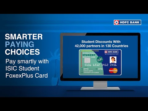 HDFC Bank ISIC Student forexPlus Card - Your Best Friend Abroad
