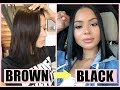 HOW I DYE MY HAIR AT HOME FROM BROWN TO BLACK   Diana Saldana