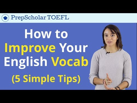 Building English Vocabulary | Tips and Tricks for TOEFL Vocabulary