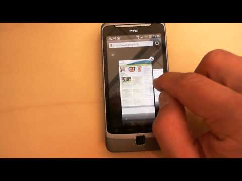 HTC Desire Z: Using browser tabs