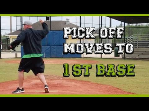 How to pick off baserunners (1 of 3) Pick off moves to first base
