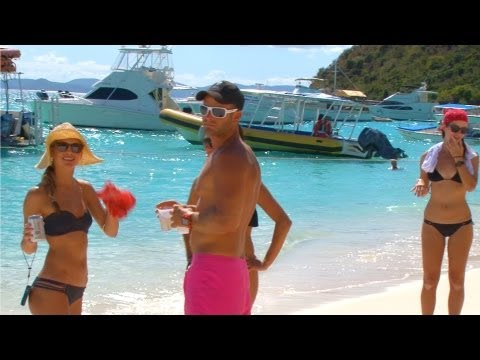 British Virgin Islands - Soggy Dollar Beach Bar, White Bay, Jost Van Dyke, BVI, Caribbean
