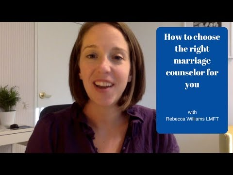 How to choose the right marriage counselor for you