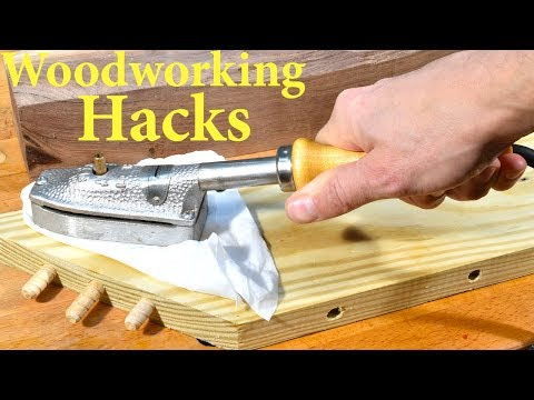 Amazing Woodworking Trick / Repairing Dents in Wood with an Iron