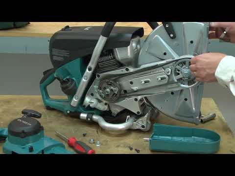 Makita Cut-Off Saw Repair - How to Replace the V-Belt