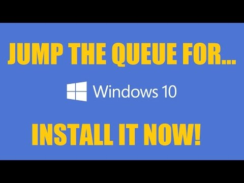 Force windows 10 early upgrade. Jump the queue. Tutorial