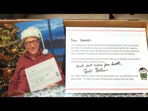 Lucky woman gets Bill Gates as Reddit Secret Santa