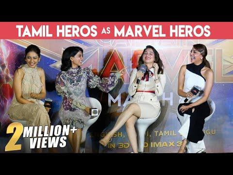Xxx Mp4 MOST GORGEOUS PRESS MEET EVER FULL FUN Kajal Tamannaah Samantha Amp Rakul Captain Marvel 3gp Sex