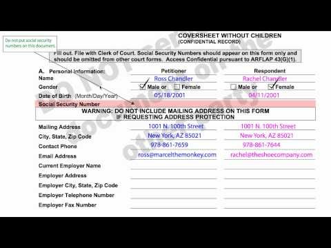 How-to Divorce in Arizona, A1: Family Court, Sensitive Data Sheet.mp4