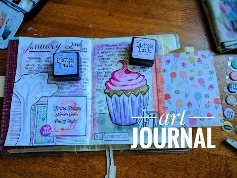 Creative Art Journal with me