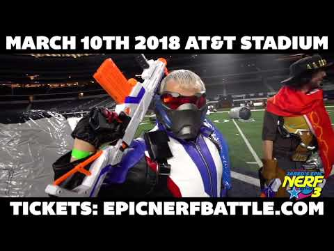 Jared's Epic Nerf Battle 3 - March 10th 2018 AT&T Stadium
