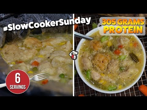 Easy Meal Prep SLOW COOKER Chicken and Biscuits