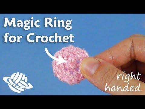 Magic Ring for Crochet (right-handed version)