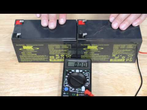 Testing Battery Voltage for Driveway Gate Openers
