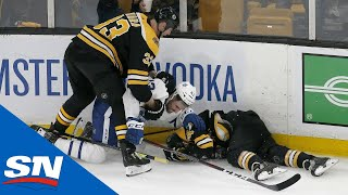 All Big Hits Scrums From Physical Game 2 Between Maple Leafs And Bruins