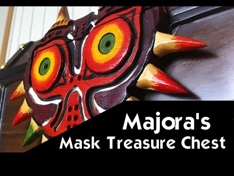 DIY Zelda Treasure Chest - Zelda Majora's Mask Chest - A carved out of wood Treasure box