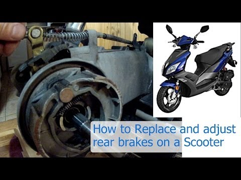 How to replace and adjust the rear brakes on a 150 or 50 cc GY6 Chinese scooter