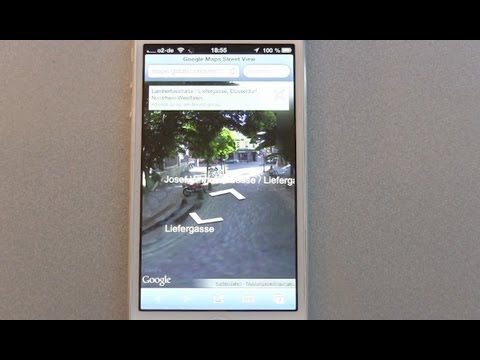 Google Street View on Apple iOS6 - iPhone 5 hands on