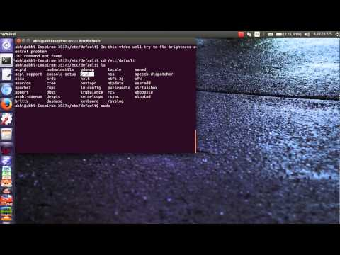 Ubuntu Brightness Control doesn't work FIXED