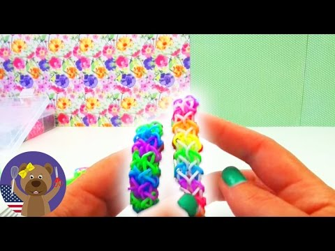 Rubber band bracelets without loom ZIG-ZAG wristlet With FORK DIY / Without Board Tutorial ZigZag