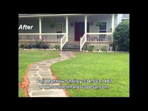 Southern Hardscapes Natural Stone Pathway and Steps