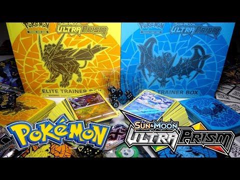 Opening 2 ELITE TRAINER BOX Pokemon SUN & MOON Ultra Prism Boxes