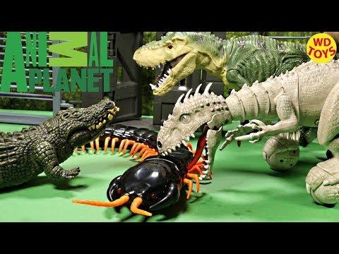 New Animal Planet Giant R/C Centipede, Indominus Rex Zoomer Dinosaur Toys Jurassic World Unboxing