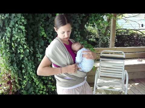 Wearing a baby in a Moby Wrap - newborn cuddle hold instructions