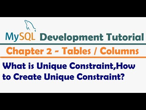What is Unique Constraint in MySQL   How to Create Unique Constraint   MySQL Tutorial for Developers
