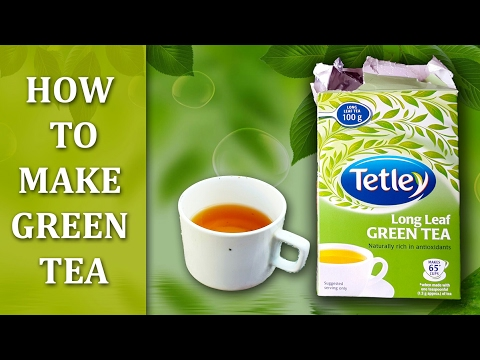 How To Make Green Tea in Hindi