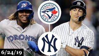Toronto Blue Jays vs New York Yankees - Full Game Highlights | June 24, 2019 | 2019 MLB Season