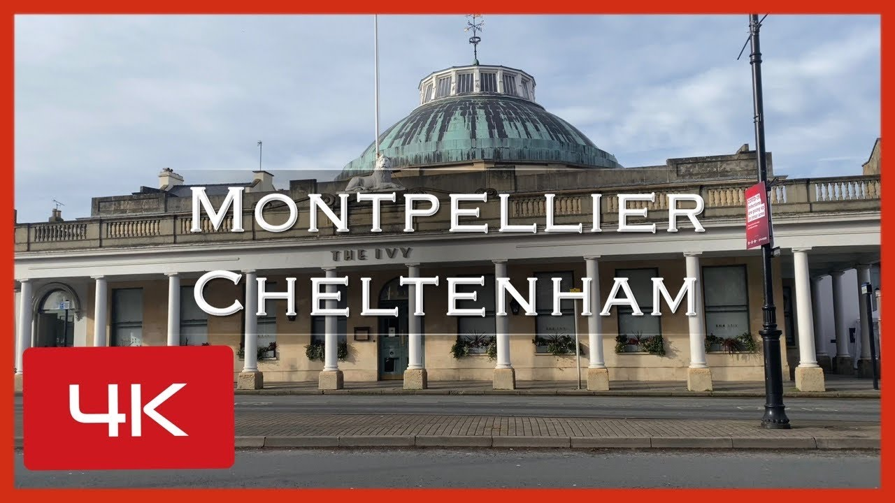 Montpellier Cheltenham a Spa town in Gloucestershire, England, with its Regency buildings.
