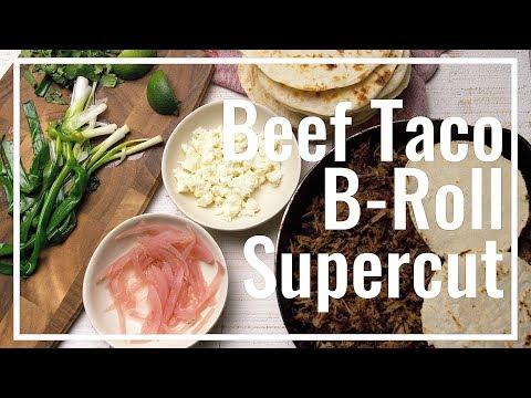Beef Brisket Taco B-Roll Supercut || Le Gourmet TV Recipes