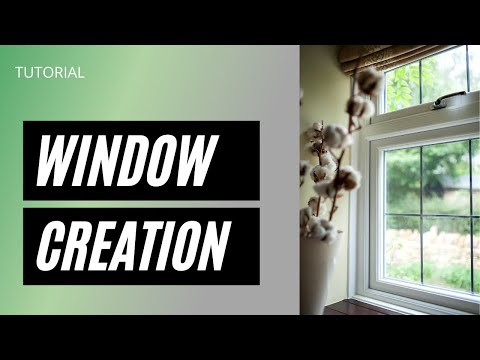 WINDOW creation  in 3ds max.[tutorial from Nasi architecture]Hindi& Malayalam