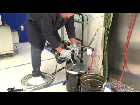 Graco Pro Xp Electrostatic Air Spray Gun Setup and Prime