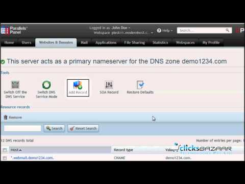 How to manage your domains' DNS zones in Plesk