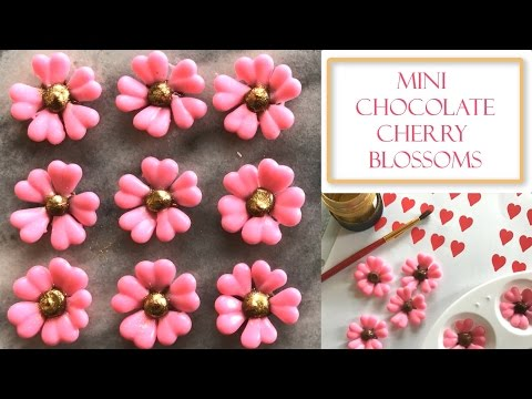 How to Make Mini Chocolate Cherry Blossom Flowers | Simple & Easy