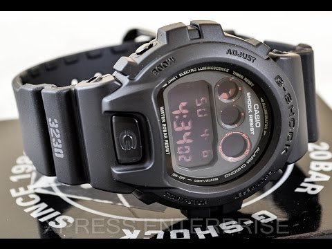 Casio GSHOCK Military DW6900MS-1 REVIEW   How To Set Time   LIGHT DISPLAY