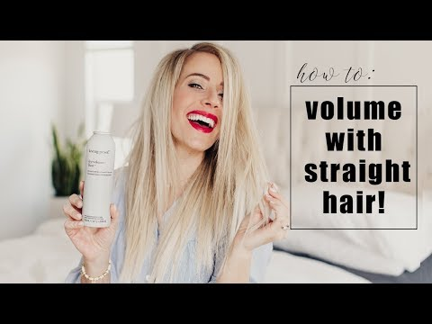 HOW TO:  Get volume with straight hair without using a round brush! | Twist Me Pretty
