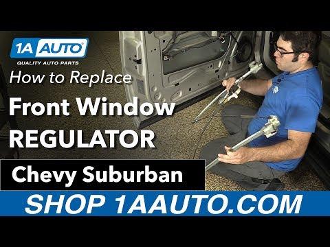 How to Replace Install Front Door Window Regulator 2007-14 Chevy Suburban