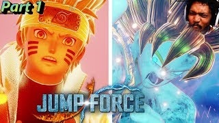 IT IS HERE! NARUTO VS GOKU OMGOSH!1!! | Jumpforce FULL GAME Part 1
